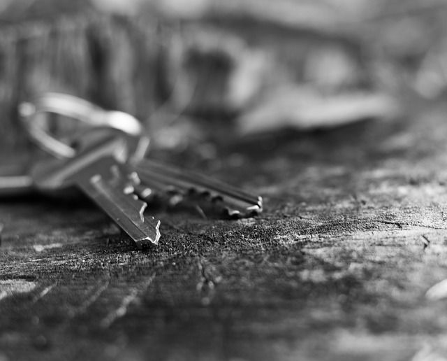 Pair of keys on a table